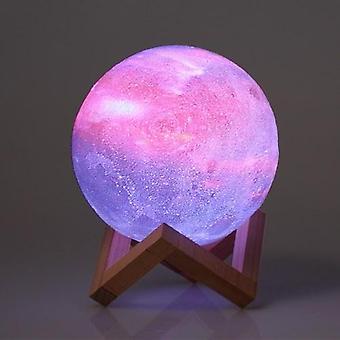 10cm/3.94in 3D TulostusTähti Moon Lamppu USB Led Moon Muotoinen Pöytä Yövalo