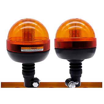 Safurance Led Rotating Flashing Amber Beacon Flexible Tractor Warning Light