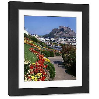 Mont Orgueil Castle, Jersey, Channel Islands. Framed Photo. View of Mont Orgueil Castle (Gorey.