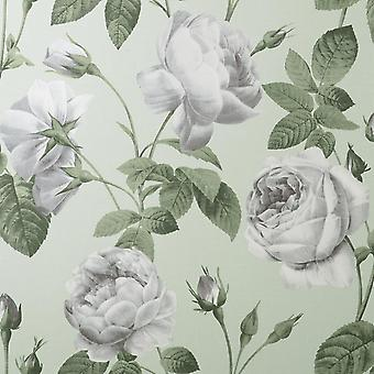 Eden Floral Sage Wallpaper