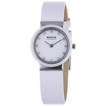 BERING Analog Quartz Watch Woman with Leather Strap 10725-854