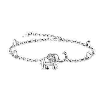 خلخالات نسائية مع الفيلة، ب 925 فضة إسترلينية