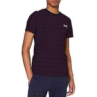 Superdry Ol Stripe Tee T-Shirt, Academy Port, XS Homme