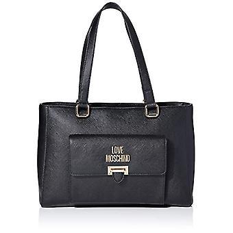 Love Moschino Jc4242pp0a, Women's Tote Bag, Black Saffiano, 14x25x35 cm (W x H x L)