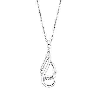 Amor - Halsband för kvinnor med glänsande silverhänge 925, med vita zirkoner(2)