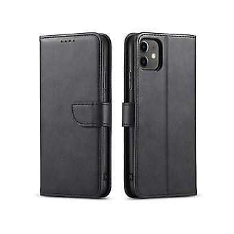 Flip folio leather case for samsung a11/m11 black pns-867