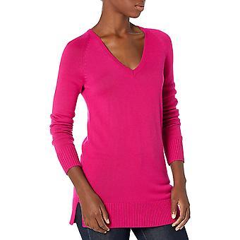 Brand - Lark & Ro Women's Long Sleeve Tunic V-Neck Sweater