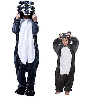 Regenboghorn Wolf Costume Pajama Onesie Kigurumi Jumpsuit Animal Hoodie