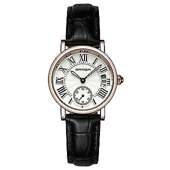 Casual SANDA P206 Leather women Fashion Lady Dress Quartz Watch