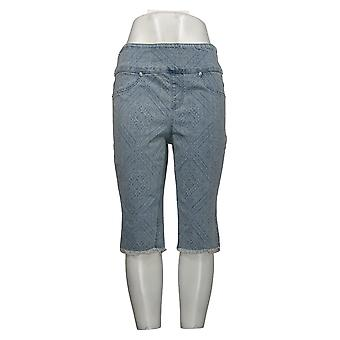 DG2 by Diane Gilman Women's Shorts Classic Stretch Bermuda Blue 743596