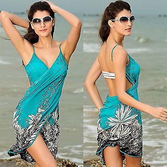 Hot Sexy Floral Biquíni Maiô Maiô Maiôs Maiôs Cobrir Vestido de Praia
