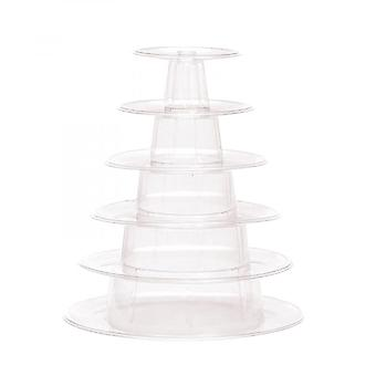 Macaron Cake Display Stand 6-laags Ronde Plastic Cake Tower Stand