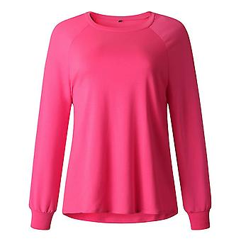 Simple Fashion All-match Casual Round Neck Long Sleeve T-shirt For Women