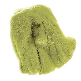 100% ren ny ull for nål filting, 50g - lys grønn