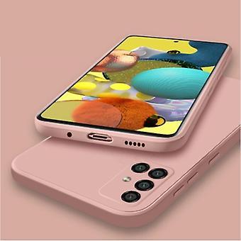 My choice Samsung Galaxy S10E Square Silicone Case - Soft Matte Case Liquid Cover Pink