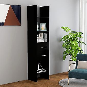 vidaXL bibliothèque noir 40x35x180 cm panneau de particules