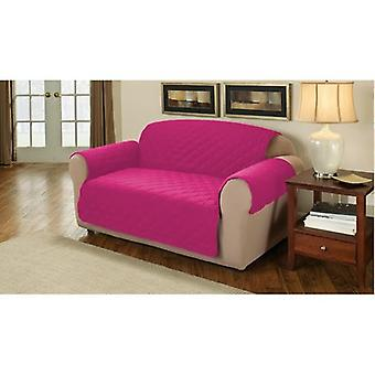 Changing Sofas Soft Quilted 1 Seater Sofa Cover Protector Throw, Cerise Pink