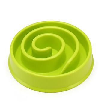 المحمولة الكلب تغذية أغذية السلطانيات جرو تبطئ الأكل المغذية طبق الأمعاء الكلب اللوازم (#01 الأخضر)