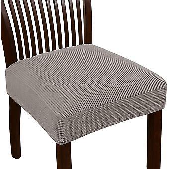Venytä jacquard tuoli istuinten kannet ruokasalin tuoli istuin slipcovers irrotettava pestävä tuoli istuin tyynyn liukumäkeen, taupe