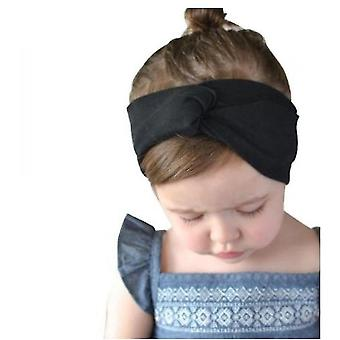 3 Pcs Children's Cross Hair Band Baby Stretch Solid Color Cross Bow Baby Decoration Headwear(Color1)