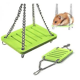 Hamster swing väri ekologinen lauta swing lelu hamsteri lelu hamsteri tarvikkeet lelu (vihreä)