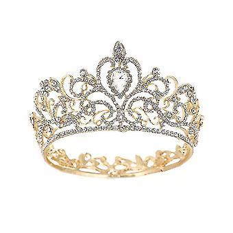 Baroková okrúhla koruna Tiara Svadobná čelenky Princezná Svadobné pokrývky hlavy