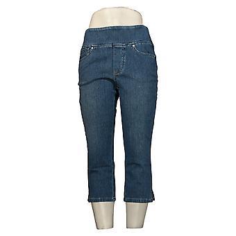 Belle by Kim Gravel Women's Jeans Regular Flexibelle Capri Jeans Blue A350526