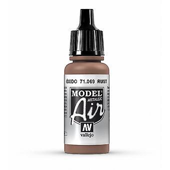 Vallejo Model Air 69 Rust (Metallic) - 17ml Acrylic Airbrush Paint