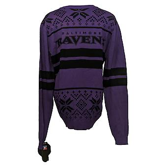 NFL Homme Baltimore Ravens Pull LED Lighted Ugly Pullover Purple A371650