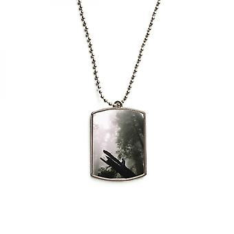 Forestry Science Nature Scenery Steel Pet Tag Pendant