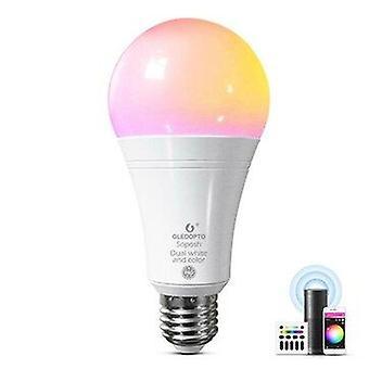 Gledopto rgb+cct 12w led smart bulb pro remote voice app control compatible with zigbee 3.0