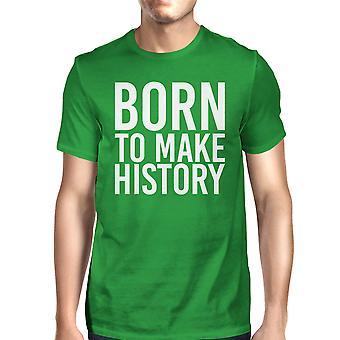 ولد لجعل تاريخ مان الأخضر كيلي المحملة لطيف كم قصير تي شيرت