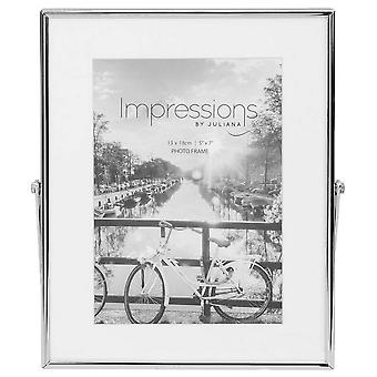 Juliana Impressions Border Photo Frame 5x7 - Silver/White