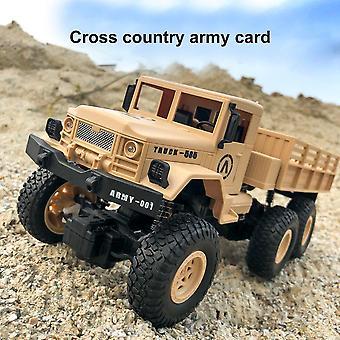 1:16 Alta velocidad RC Car Military Truck Off Road Modelo de regalo de cumpleaños para niños| Rc Camiones (Caqui)