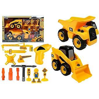 Spielzeugauto-Set - Krankipper - Bagger - demontierbar