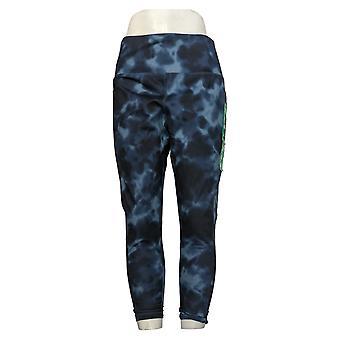 Danskin Leggings Super Soft Full Length Polyester Blue