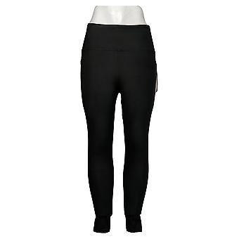 Danskin Leggings Ladies' Super Soft Moisture Wicking Fabric Pocket Black
