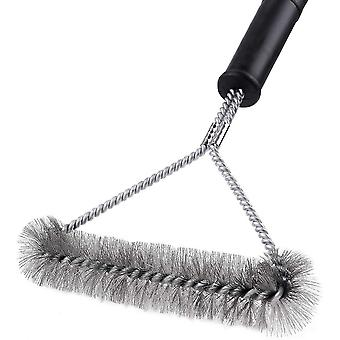Barbecue Cleaning Brush, Triangular Barbecue Brush For Charcoal Grill And Barbecue, 30 Cm