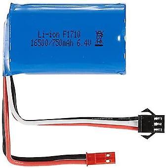 1 Oplaadbare lipo batterij stuk (6.4 750mah) per auto voor a959-a a969-a a979-a k929-a truck rc 16500