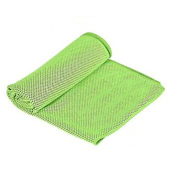 Jäähdytyspyyhe, viileä pyyhkeet mikrokuitu kylmä pää nauha Bandana kaula wrap vihreä