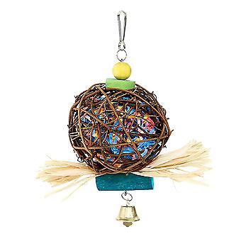 Vtáčie žuvacie hračky na hľadanie drviča Hračka Shred Foraging Závesná klietka hračka pre papagája Cockatiel Budgie