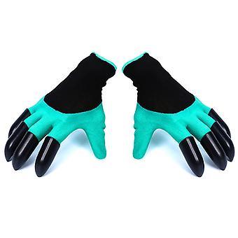 Tuinbloem handschoenen, beide handen met klauwen, outdoor dippen plant met beschermende handschoenen voor het graven van grond
