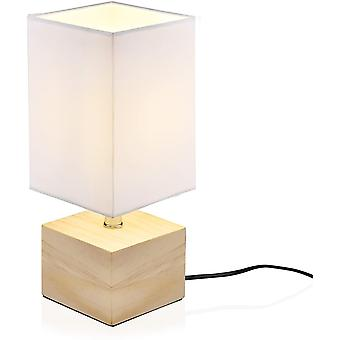 Décoration moderne Lampe de chevet, atmosphère esthétique Lecture Lampe de table Bois Soins des yeux Nature Chambre à coucher Éclairage (blanc)