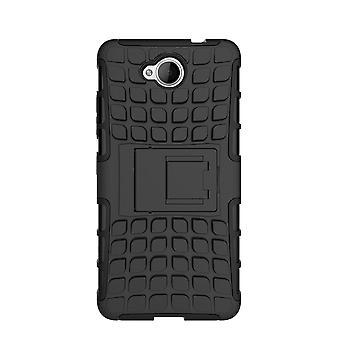 InventCase Microsoft Lumia 650 2016 Heavy Duty Shockproof Case - Black
