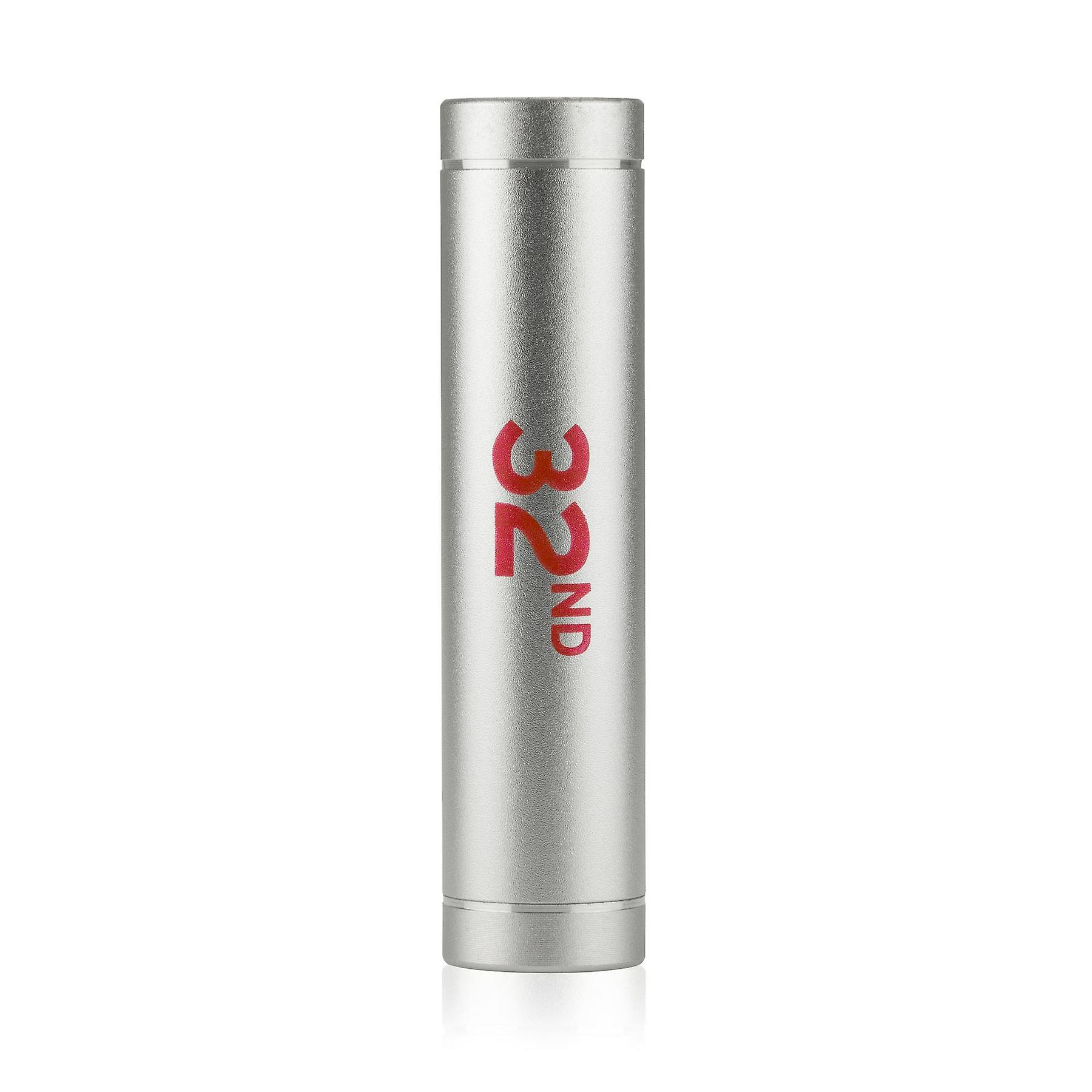 32nd branded Power Bank Portable Battery Pack 2200 mah - Silver