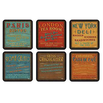 Pimpernel Lunchtime Coasters Set of 6