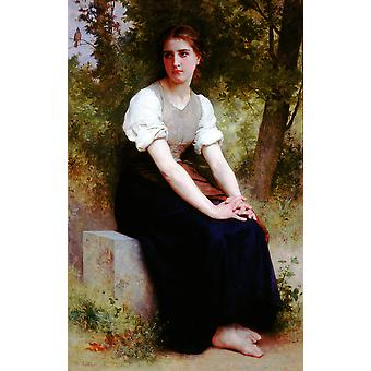 William Bouguereau - das Lied der Nachtigall Poster Print Giclee