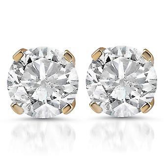 1 1 / 2ct Diamond hengsten 14K Yellow Gold