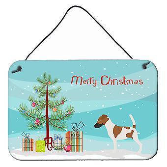 Smooth Fox Terrier Christmas Wall or Door Hanging Prints
