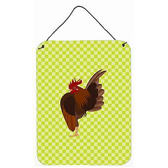 Malaisienne Serama poulet vert mur ou porte accrocher impressions